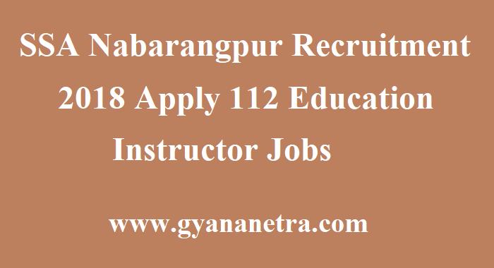 SSA Nabarangpur Recruitment