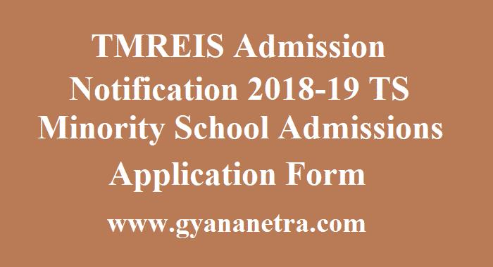 TMREIS Admission Notification 2018-19