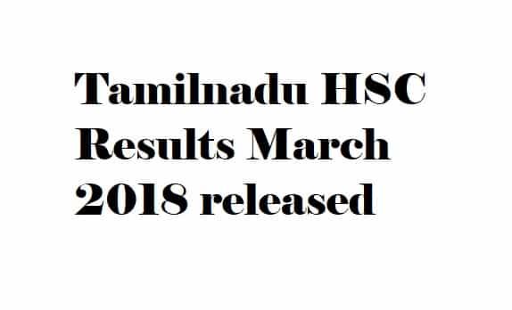TN 12th Exam Results 2018