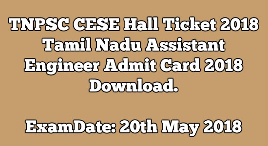 TNPSC CESE Hall Ticket