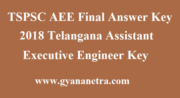 TSPSC AEE Final Answer Key