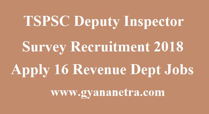 TSPSC Deputy Inspector Survey Recruitment
