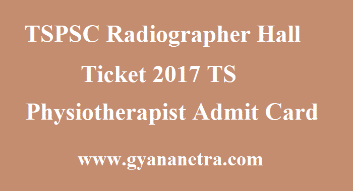 TSPSC Radiographer Hall Ticket