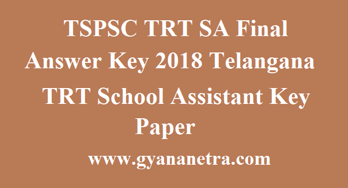 TSPSC TRT SA Final Answer Key