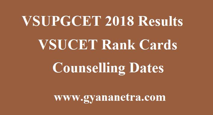 VSUPGCET 2018 Results