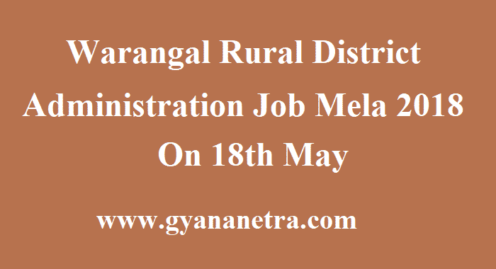 Warangal Rural District Administration Job Mela