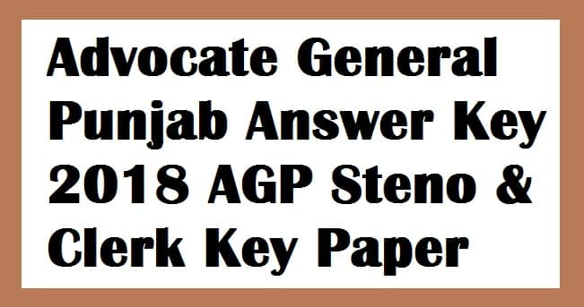 Advocate General Punjab Answer Key