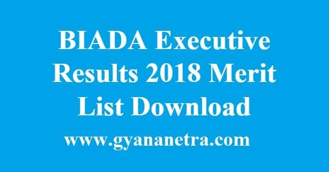 BIADA Executive Results