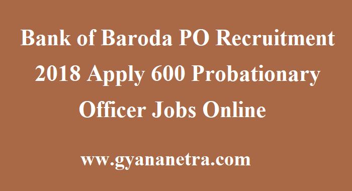 Bank of Baroda PO Recruitment