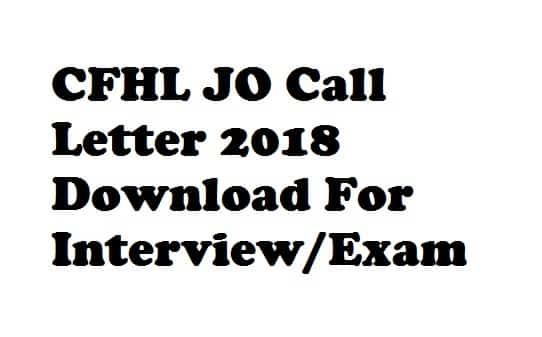 CFHL JO Call Letter