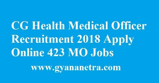 CG Health Medical Officer Recruitment