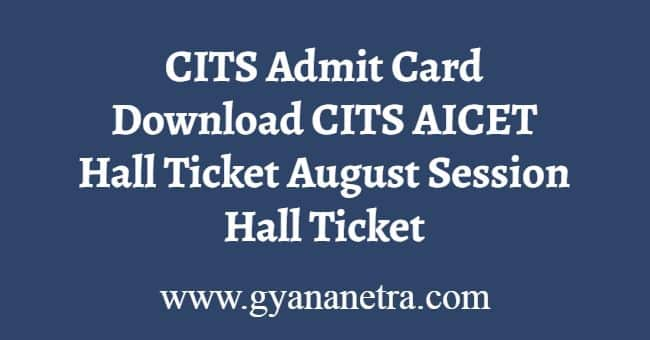 CITS Admit Card