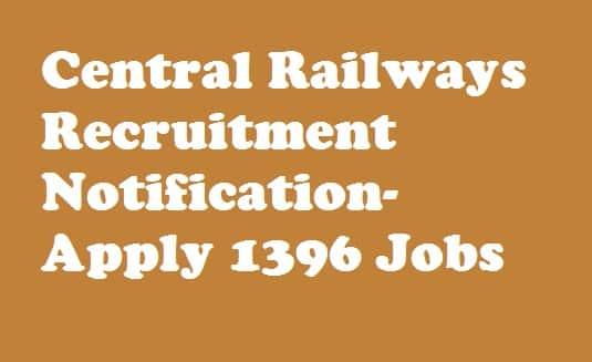 Central Railway Recruitment 2018 Notification