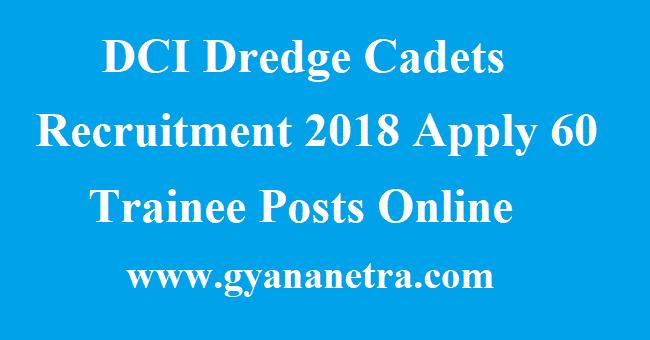 DCI Dredge Cadets Recruitment