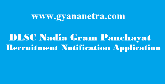 DLSC Nadia Gram Panchayat Secretary Recruitment 2018