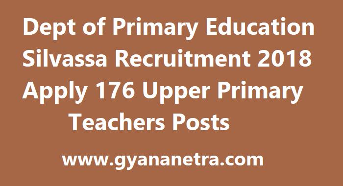 Dept of Primary Education Silvassa Recruitment