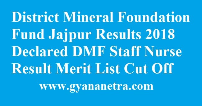 District Mineral Foundation Fund Jajpur Results