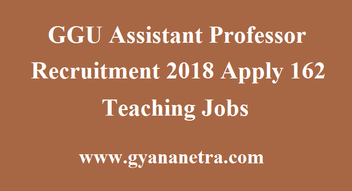 GGU Assistant Professor Recruitment