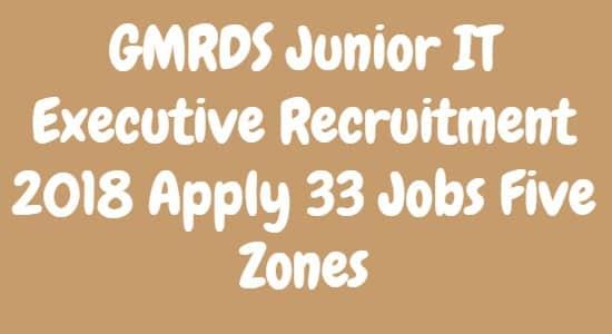 GMRDS Junior IT Executive Recruitment