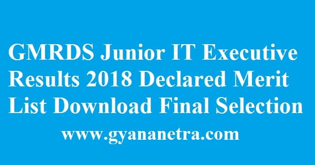 GMRDS Junior IT Executive Results