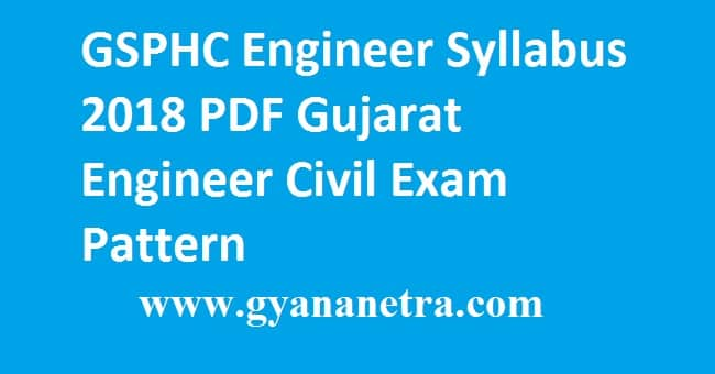 GSPHC Engineer Syllabus 2018