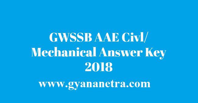 GWSSB AAE Answer Key 2018