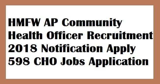 HMFW AP Community Health Officer Recruitment