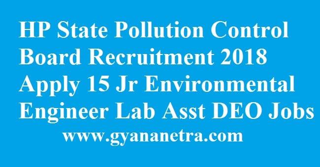 HP State Pollution Control Board Recruitment