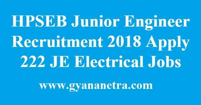 HPSEB Junior Engineer Recruitment