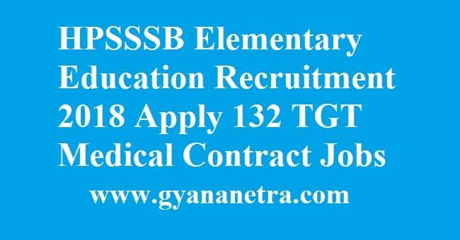 HPSSSB Elementary Education Recruitment