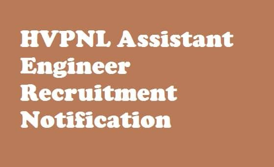HVPNL Assistant Engineer Recruitment
