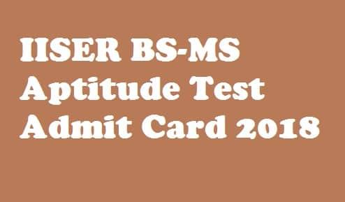 IISER Admit Card 2018