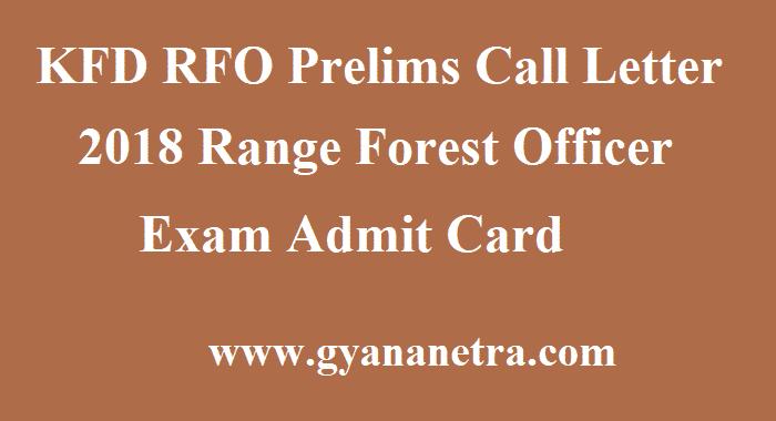 KFD RFO Prelims Call Letter