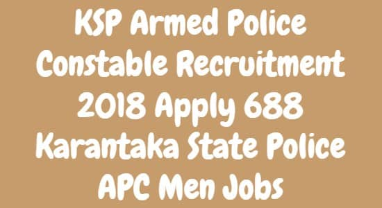 KSP Armed Police Constable Recruitment