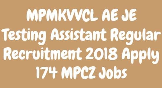MPMKVVCL AE JE Testing Assistant Regular Recruitment