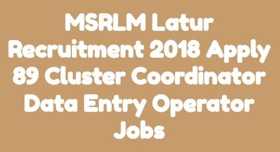 MSRLM Latur Recruitment
