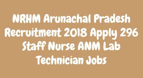 NRHM Arunachal Pradesh Recruitment