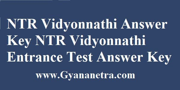 NTR Vidyonnathi Answer Key Download PDF