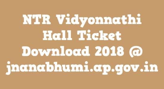 NTR Vidyonnathi Hall Ticket Download