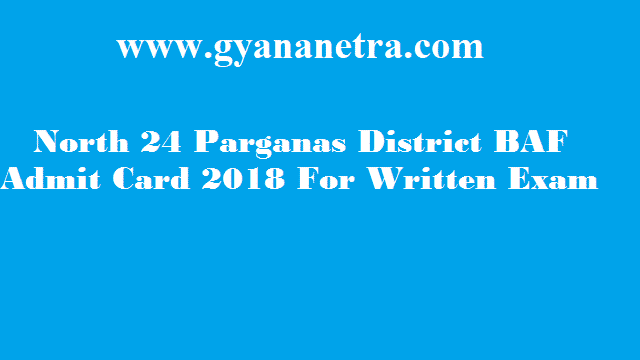 North 24 Parganas Block Asha Facilitator Admit Card 2018