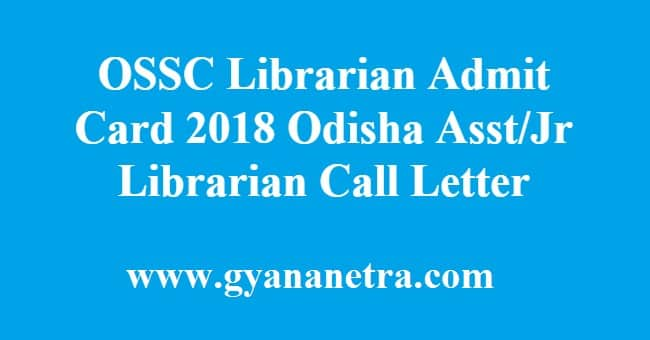OSSC Librarian Admit Card