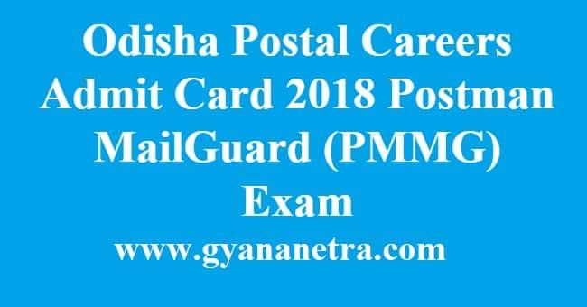Odisha Postal Careers Admit Card 2018