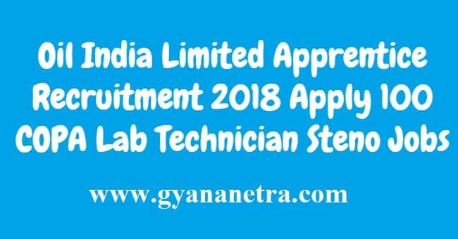 Oil India Limited Apprentice Recruitment