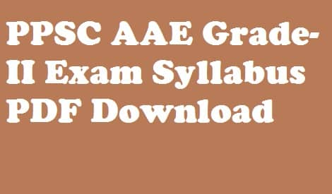 PPSC Assistant Agricultural Engineer Syllabus 2018