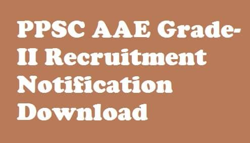 PPSC AAE Recruitment 2018