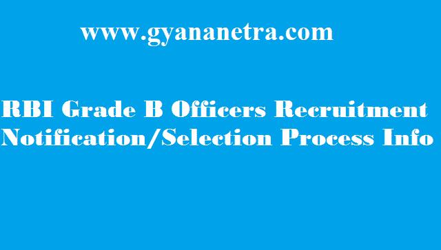 RBI Grade B Officers Recruitment 2018