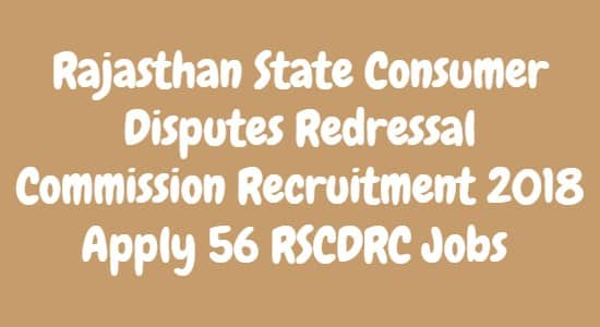 Rajasthan State Consumer Disputes Redressal Commission Recruitment