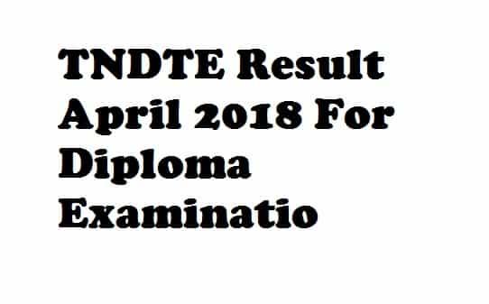 TNDTE Result April 2018