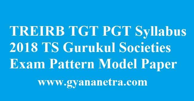 TREIRB TGT PGT Syllabus