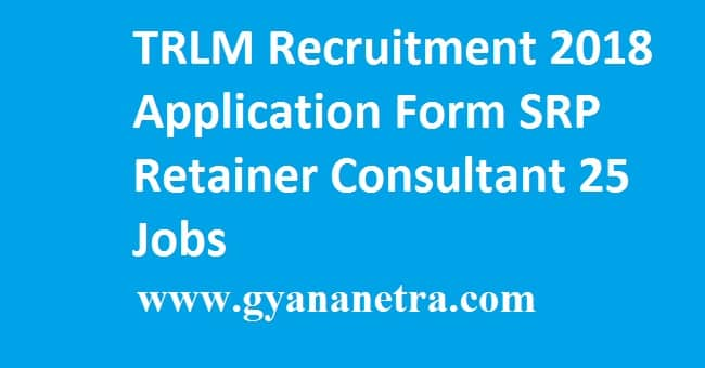 TRLM SRP Retainer Consultant Notification 2018